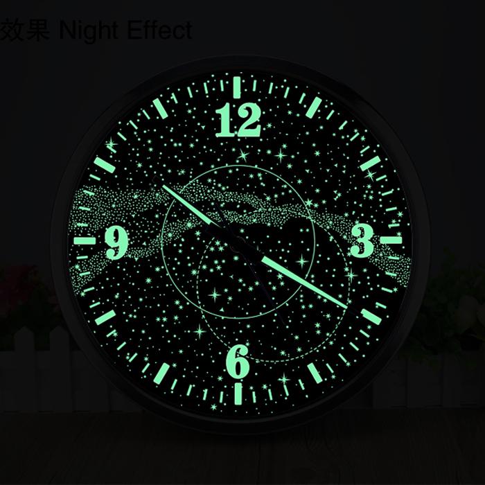 Horloge lumineuse flu galaxie deco 39 clock for Horloge lumineuse