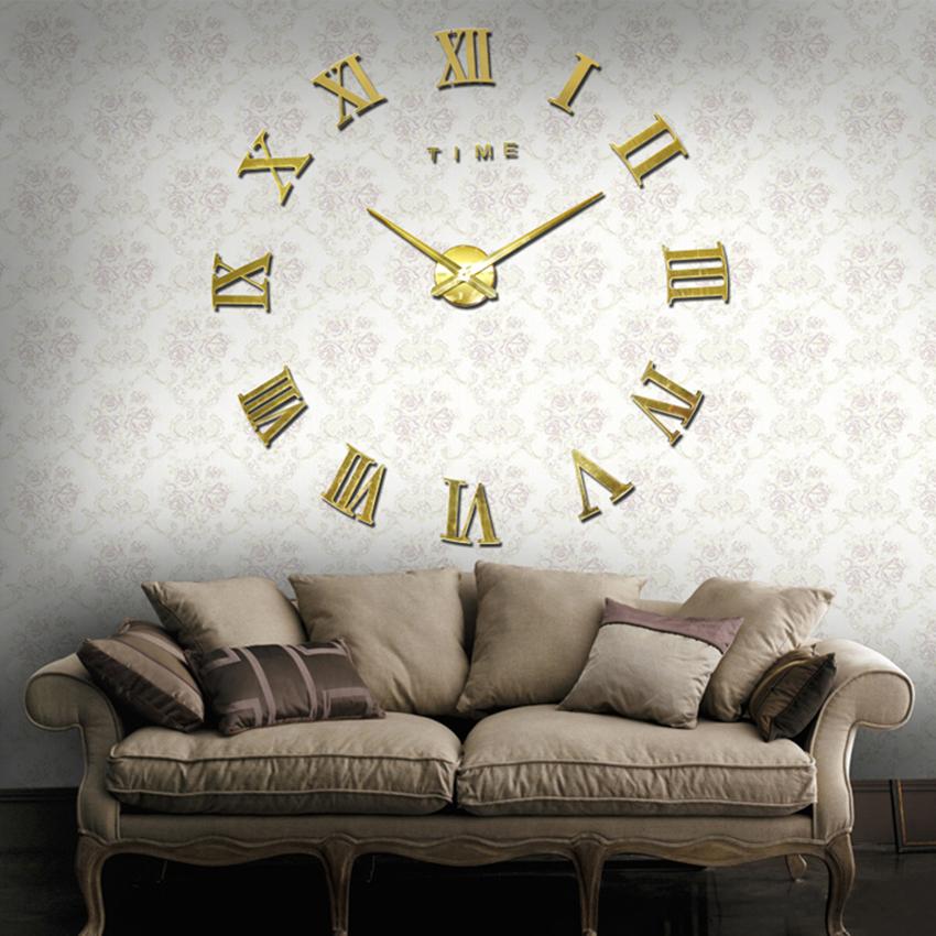 Horloge murale chiffres romains deco 39 clock - Horloge murale grande taille ...
