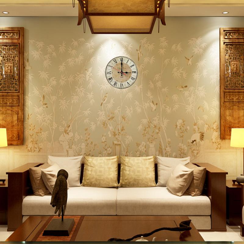 2017 new creative horloge murale en bois horloges home decor quartz montre simple face moderne for Horloge murale bois moderne