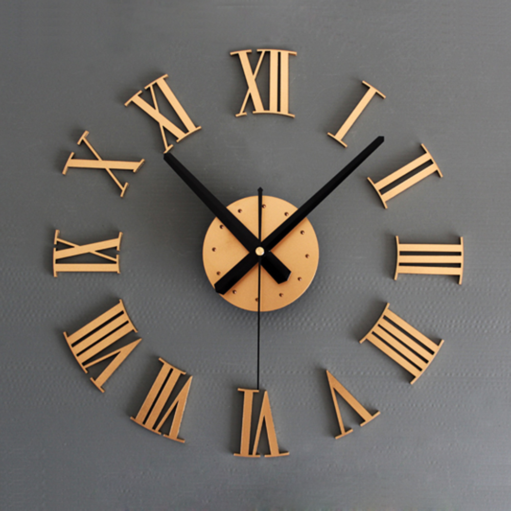Horloge Bois Chiffres Romains Deco Clock