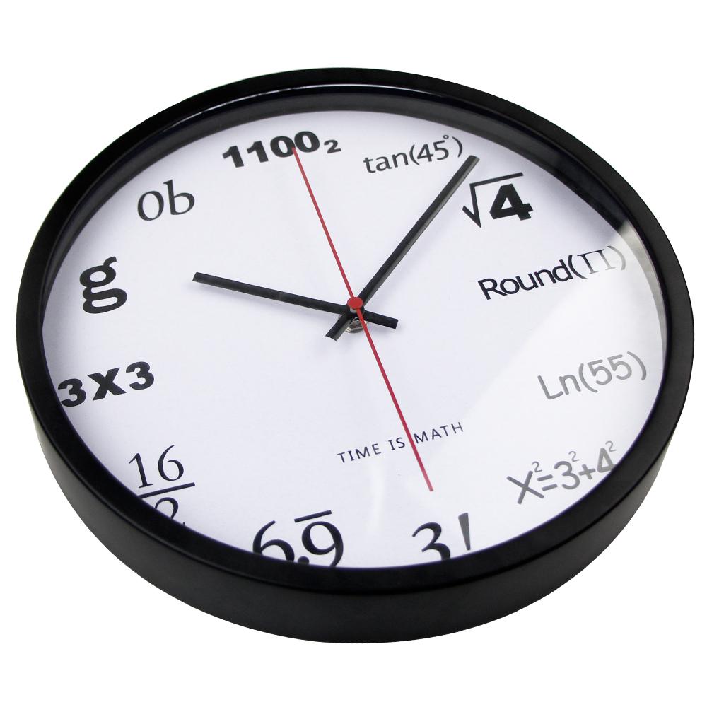 horloge maths rouge deco 39 clock. Black Bedroom Furniture Sets. Home Design Ideas