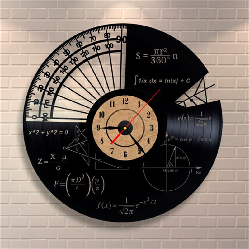 Horloge Sciences Math 233 Matiques Style Vintage Deco Clock