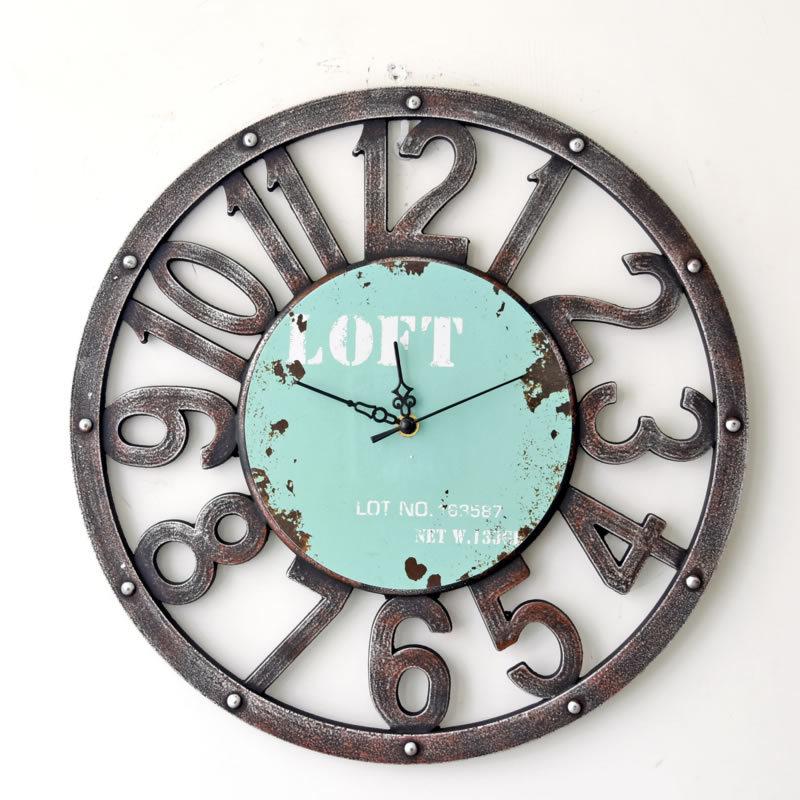 nouveaut 16 pouce horloge murale vider num rique vintage bois mur horloges montres romain. Black Bedroom Furniture Sets. Home Design Ideas