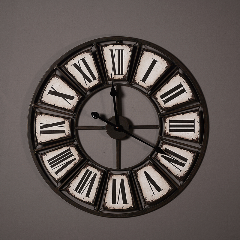 horloge murale industrielle deco 39 clock. Black Bedroom Furniture Sets. Home Design Ideas