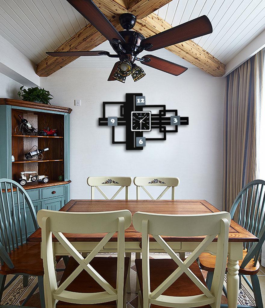 grande horloge murale avec cadre photo mariage mur. Black Bedroom Furniture Sets. Home Design Ideas