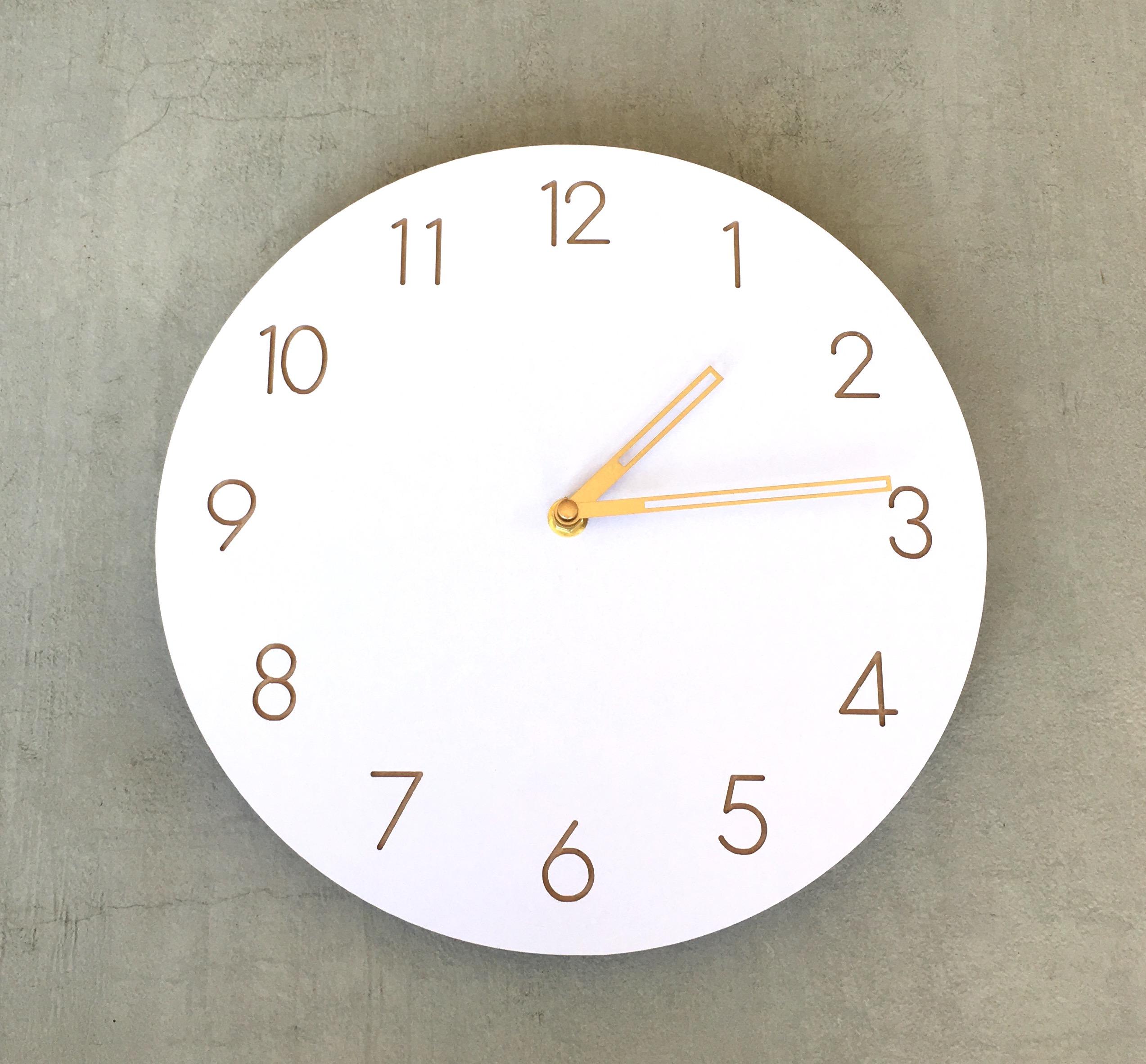 Horloge Murale Blanche En Bois Simple Et Moderne Sans