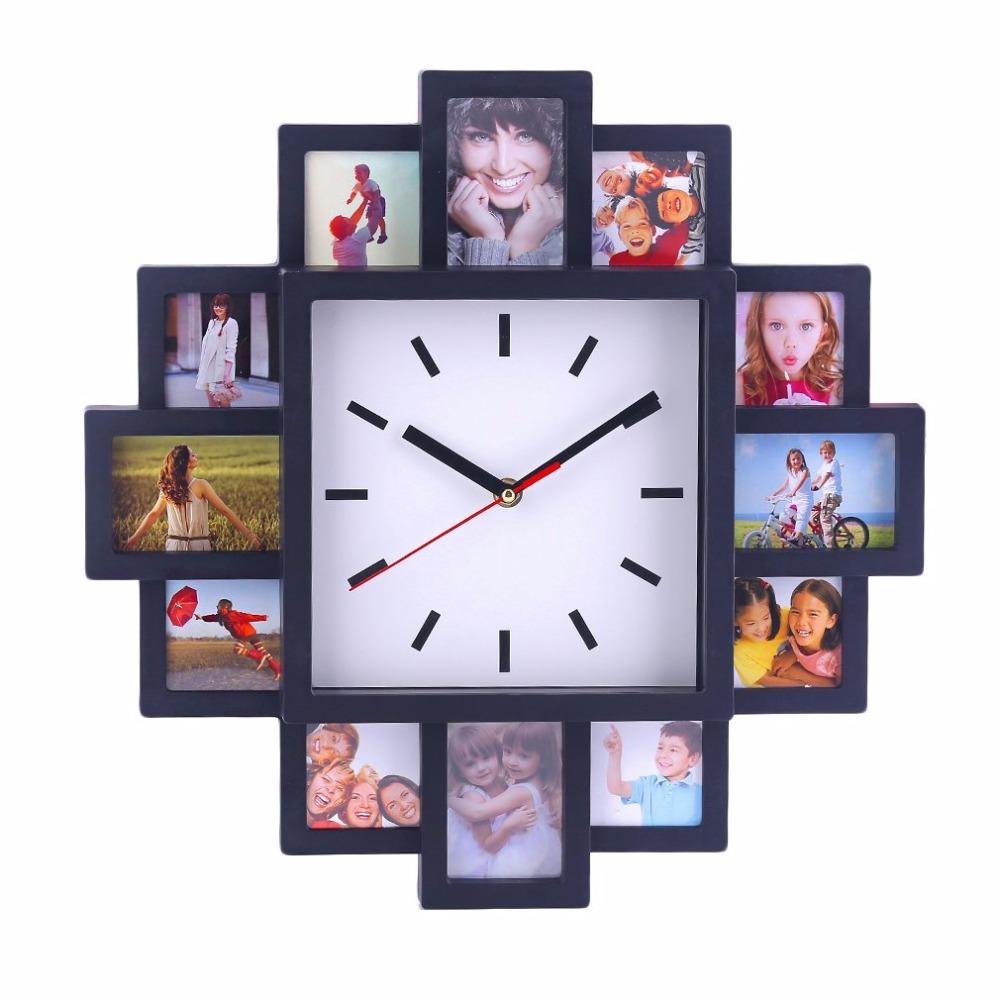 unique diy 12 photo cadre conception horloge murale jolie maison boutique d coratif horloge