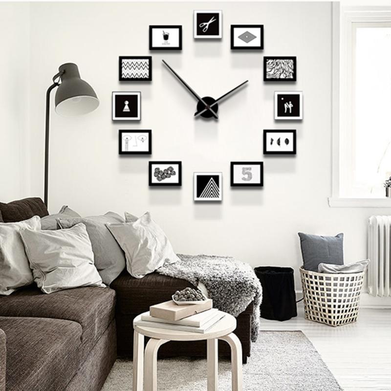 Bricolage Horloge Murale Avec En Bois Avec Photos Cadre