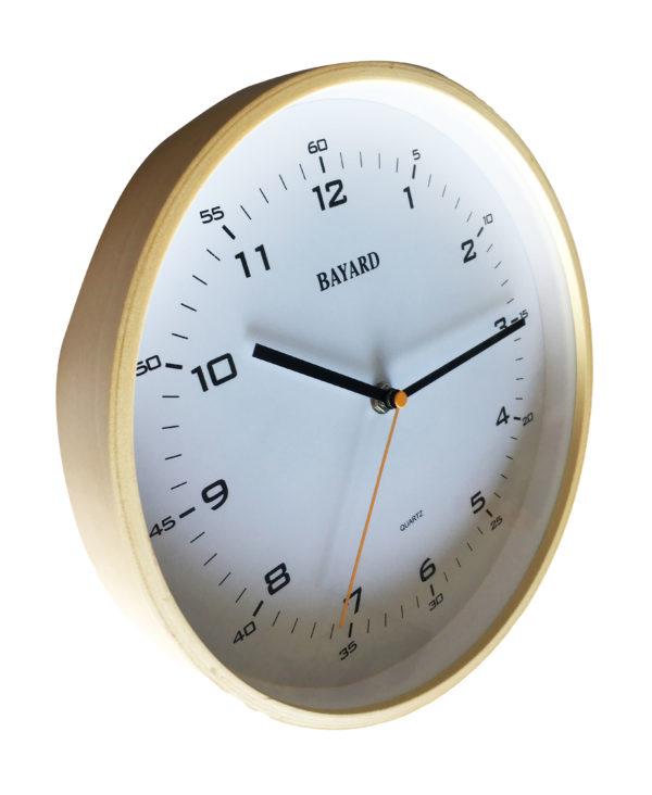 horloge bayard bois vue de coté